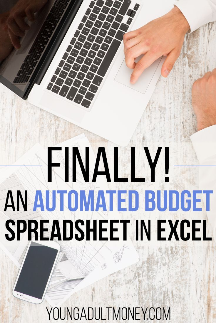 Finally there is an automated budget spreadsheet in Excel. This spreadsheet automates the most manual aspects of budgeting. via @YoungAdultMoney