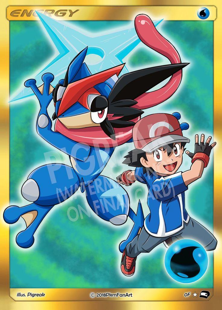 Ashgreninja water energy pigreak custom pokemon card