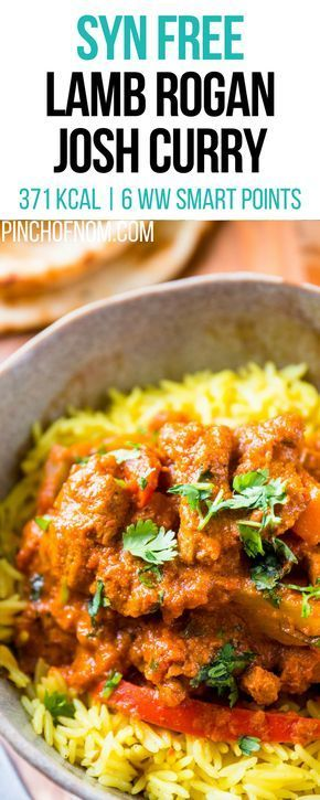 Syn Free Lamb Rogan Josh Curry | Pinch Of Nom Slimming World Recipes 371 kcal | Syn Free | 6 Weight Watchers Smart Points