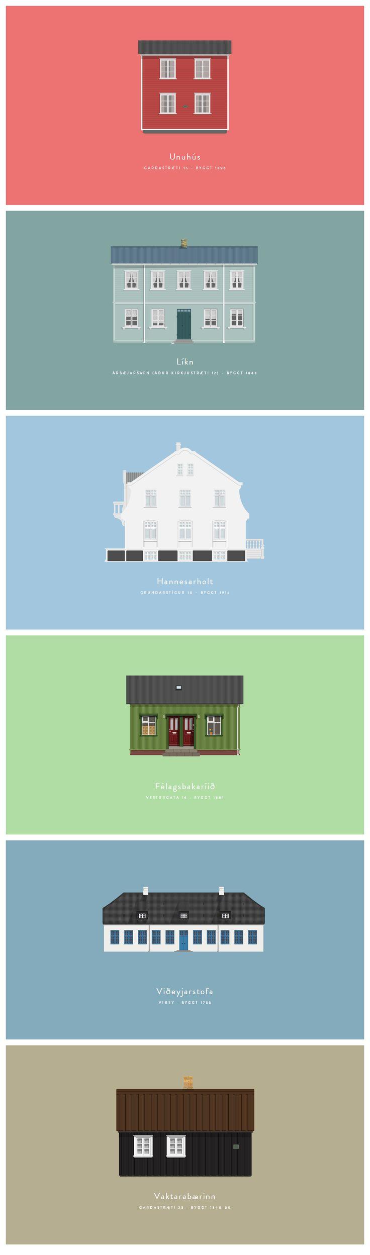"""Després del """"Windows of New York"""", un projecte semblant i també en disseny pla i minimalista: """"Houses of Reykjavik"""" #FlatDesign"""