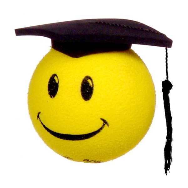 Smiley Face Graduation Cap Antenna Topper from www