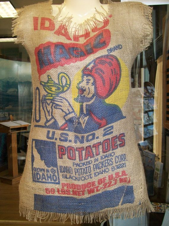 Great replica of Marilyn's potato sack!