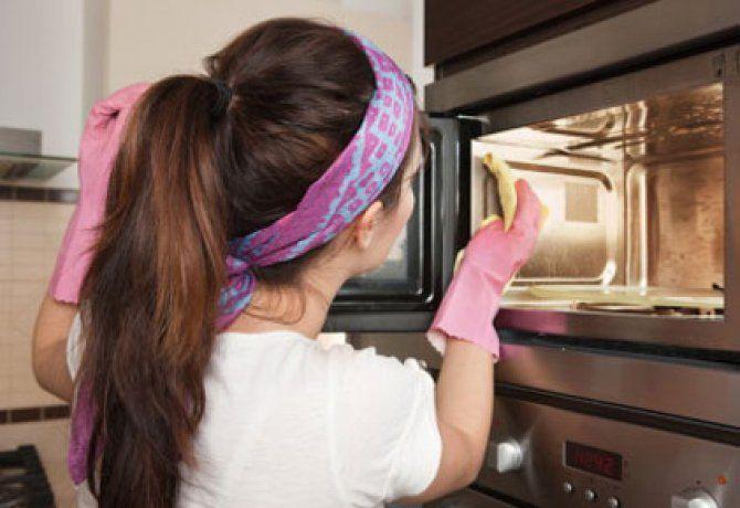 Mikrohullámú sütő tisztítása