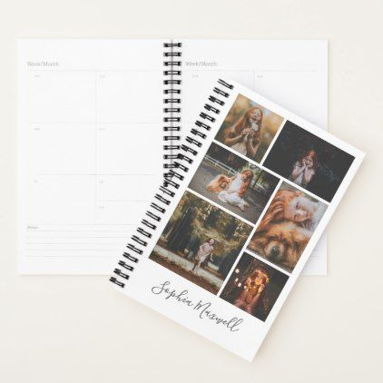 6 photo collage personalized planner photos gifts pinterest