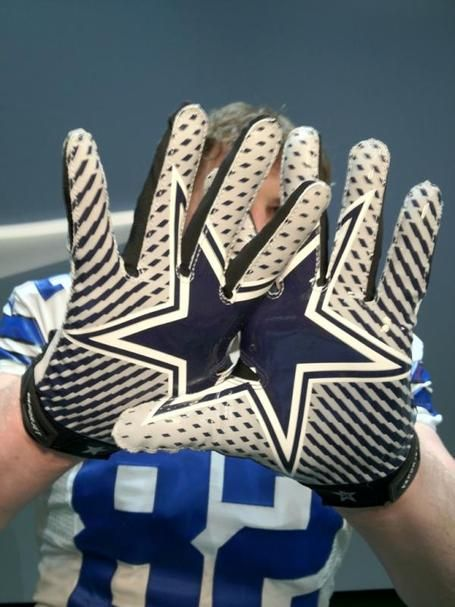 2012 Dallas Cowboys gloves