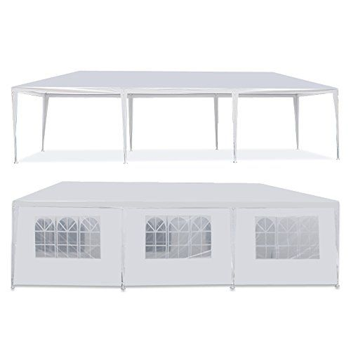 I just bought this and love it. Smartxchoices 10′ x 10′,10′ x 20′,10′ x 30'Outdoor Camping Party Wedding Tent Patio Tent Gazebo Canopy with Sidewalls,White . you can see what others said about it here http://bridgerguide.com/smartxchoices-10-x-1010-x-2010-x-30outdoor-camping-party-wedding-tent-patio-tent-gazebo-canopy-with-sidewallswhite/