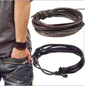 Herr Läder Armband