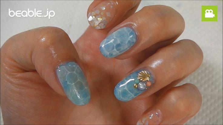 簡単セルフネイル~ドロップアート~「ジェルで水面ネイル」のやり方【ビエボ】 | ネイルアート
