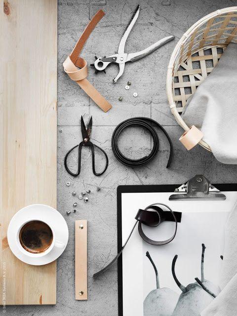 ATELIER RUE VERTE , le blog: DIY / Poignées en cuir /