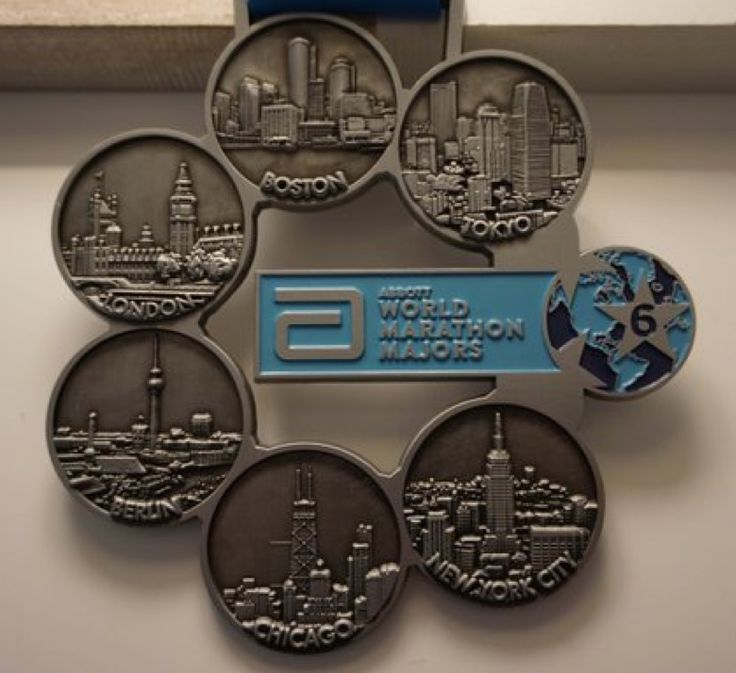 Get a Six Star medal for completing all 6 of  World Marathon Majors: NYC, Boston, Tokyo, Chicago, Berlin, London