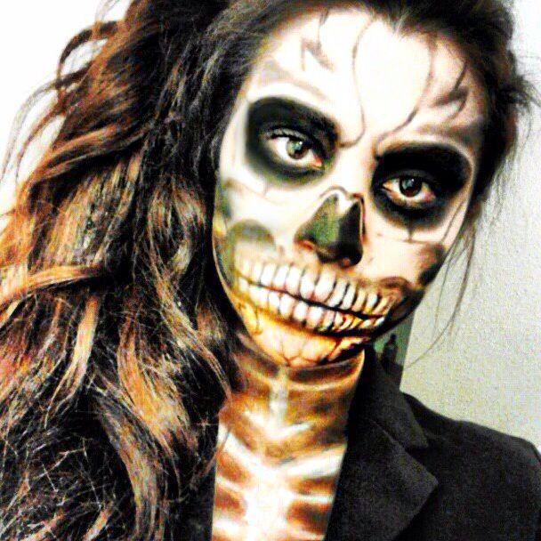 brunette version of lady gaga halloween makeup eptx - Halloween Costume Brunette