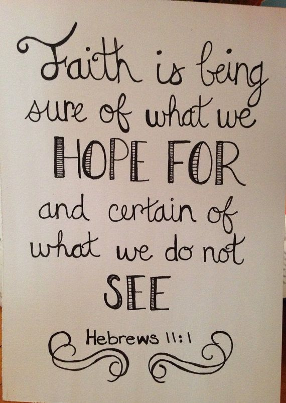 Hebrews 11:1 sign on Etsy, $6.00