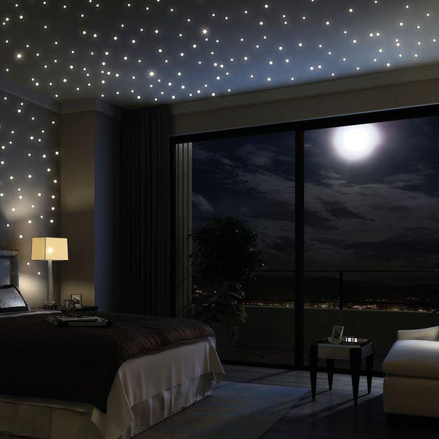 Best  Stk fluoreszierend Sterne leuchten im Dunklen Wandtattoo St ck leuchtende