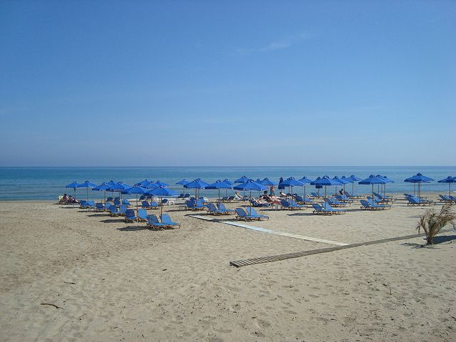 Long sandy beach of Rethymno