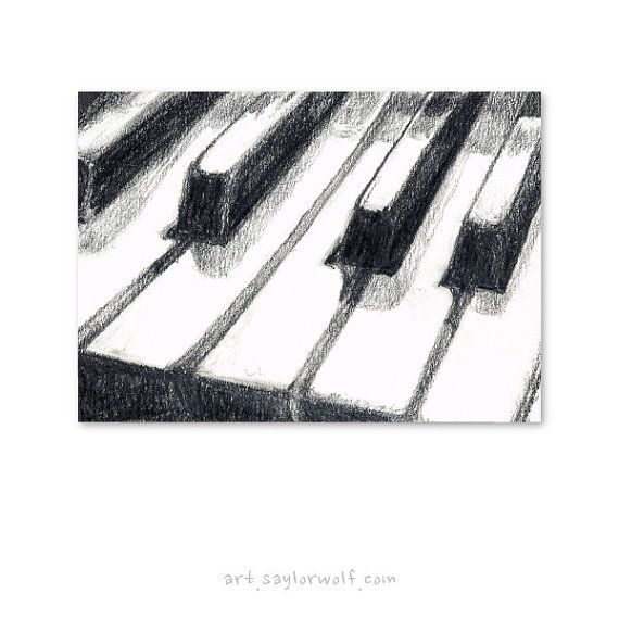 Piano Keyboard Fine Art Print of Original by SaylorWolfWatercolor – Leanne Jamieson