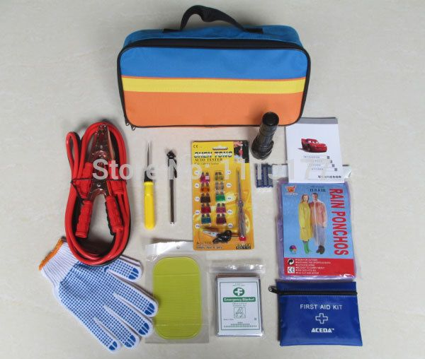 (ACE-306) Flashlight  Security bag Car Safety Emergency Tool Kit
