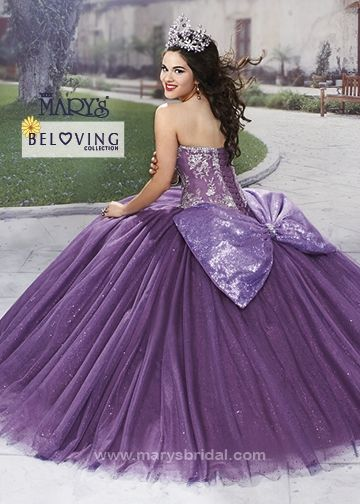 b9a20d5f49a Purple strapless bow dress
