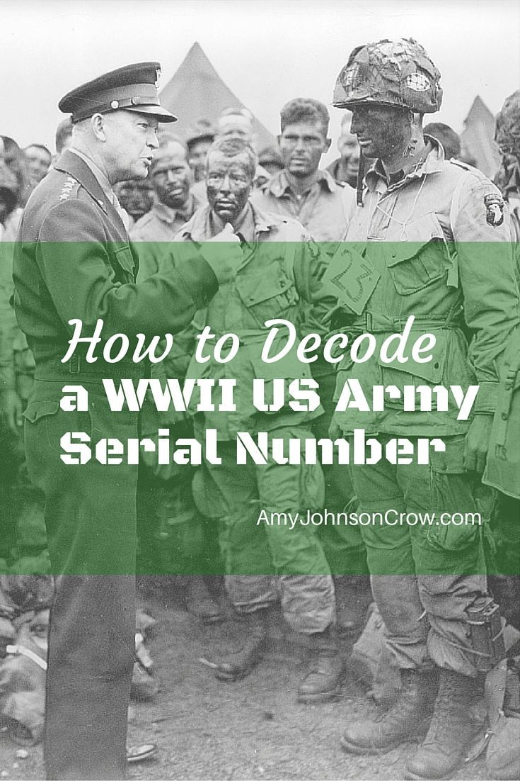 World War II US Army serial numbers weren't random. This guide will show you what each part means.