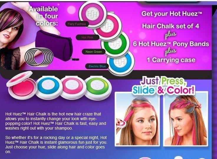 Мелки для временного окрашивания волос