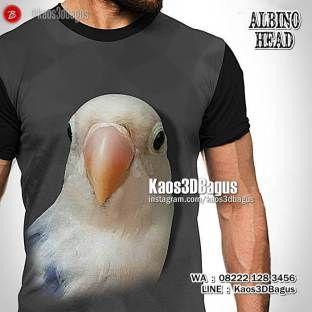 Kaos BURUNG, Lovebird Albino Mata Hitam, Kaos LOVEBIRD, Kaos3D, Lovebird Mania, Kaos Klub Burung Lovebird, https://instagram.com/kaos3dbagus, WA : 08222 128 3456, LINE : Kaos3DBagus