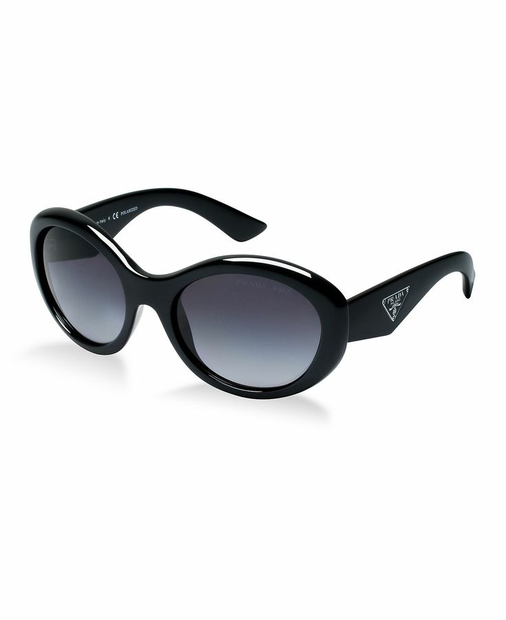 Prada Sunglasses style is an oversized round plastic frame with a saddle  nose bridge for complete comfort.