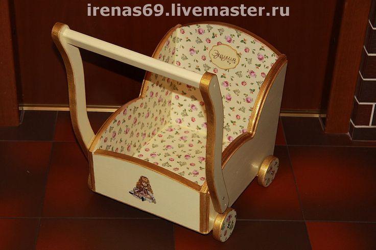 """Купить Детская коляска для игрушек """"Эмилия!"""" - детская, для девочки, коляска для кукол, детская комната, для игрушек"""