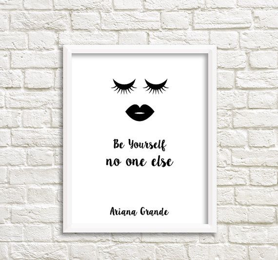 ariana grande poster ariana grande quote by GrafikShop on Etsy
