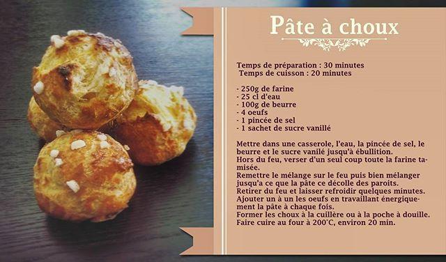 Recette de la Pâte à choux By Douceur Acidulée