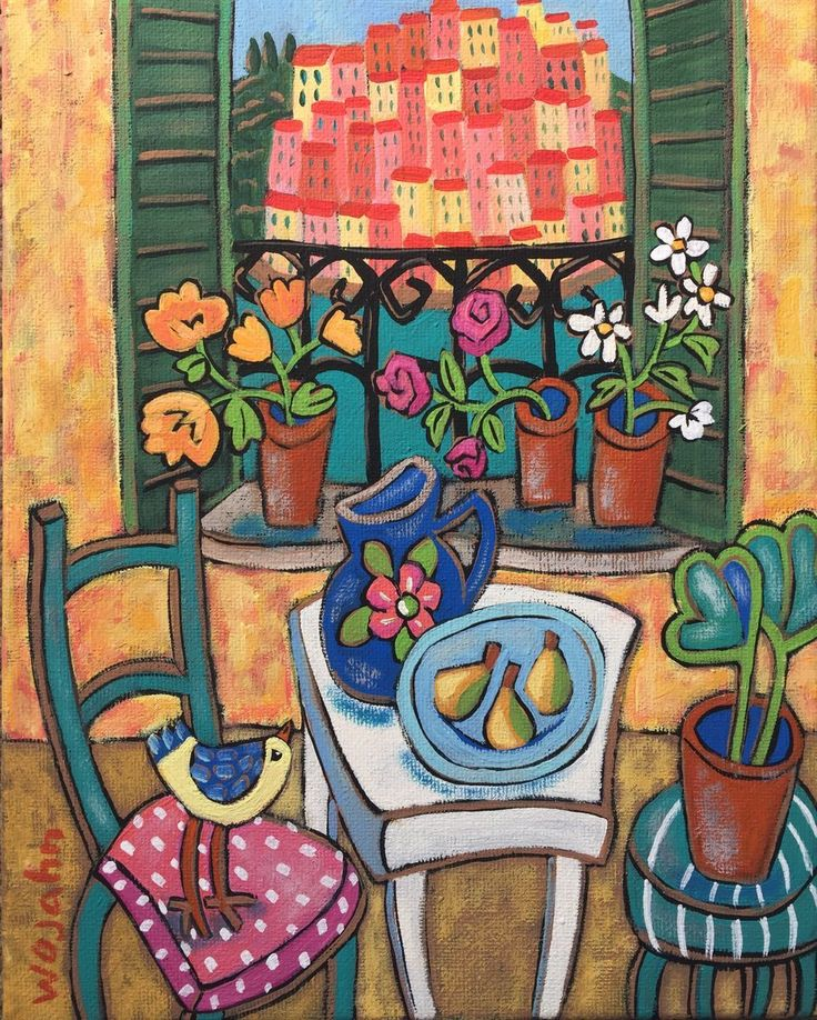 I am Weeks away from heading back to my quiet, simple life in the south of France...... As I mentally prepare, this found its way onto canvas.... I wanted to paint a scene reflecting a Menton.... b...