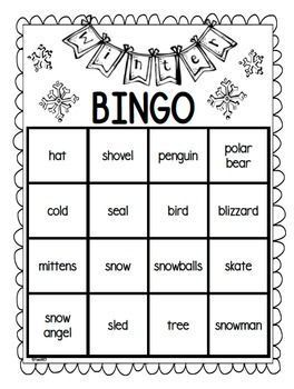 FREE Winter Party: Winter themed party kit ideas and printables for your winter party: --Ideas for party --Winter BINGO cards - 7 word cards plus 1 blank --BINGO word cards with pictures --Game ideas