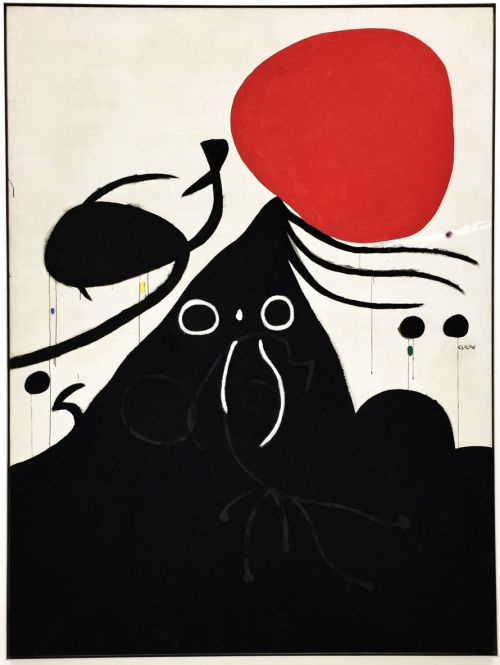 Jean Miro'Woman in Front of the Sun (I)' 1974.