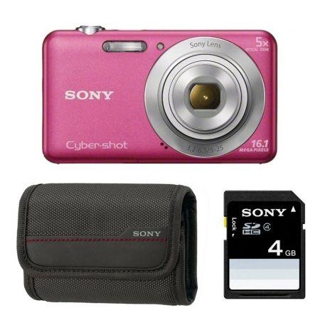 Sony DSC-W710 roz - aparat foto + Card 4GB + Geanta LCSBDG