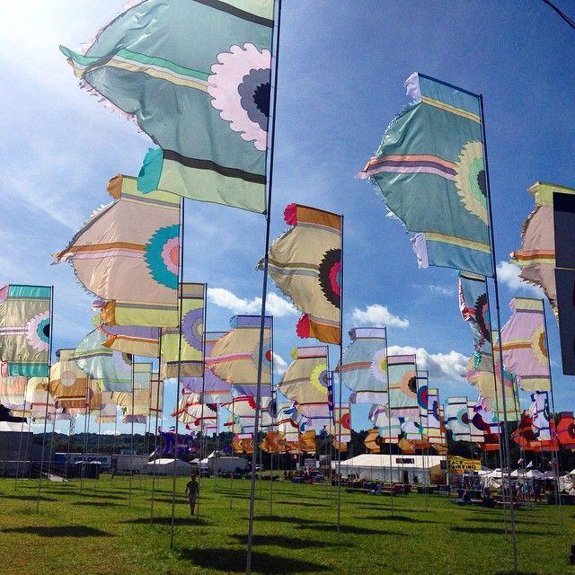 Glastonbury 2015 flags