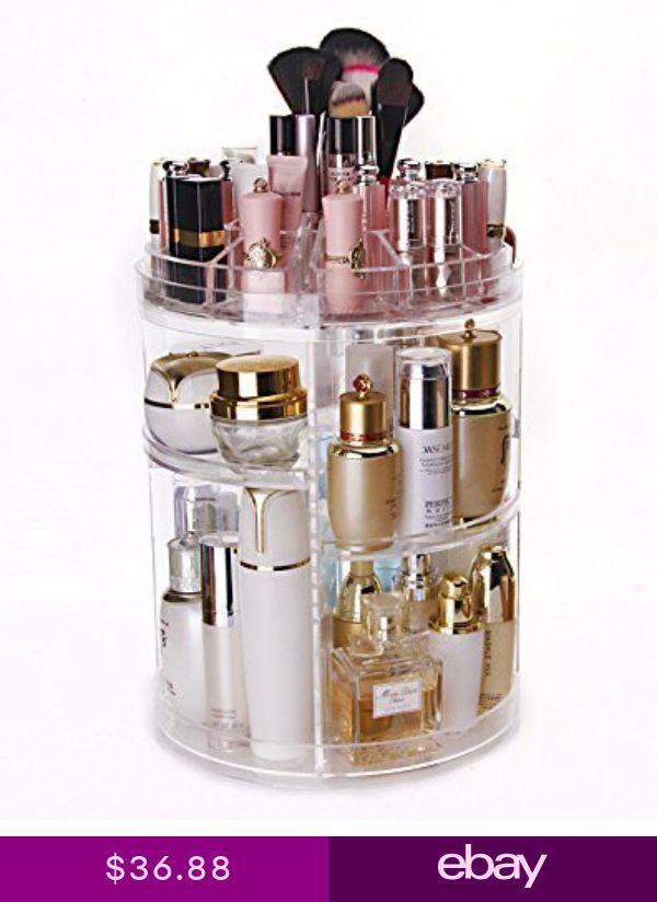 51bb1cbc53c2 Makeup Organizer 3-Tier Spinning Skincare Vanity Organization ...