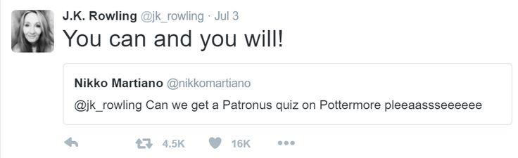 Pottermore Patronus Quiz!