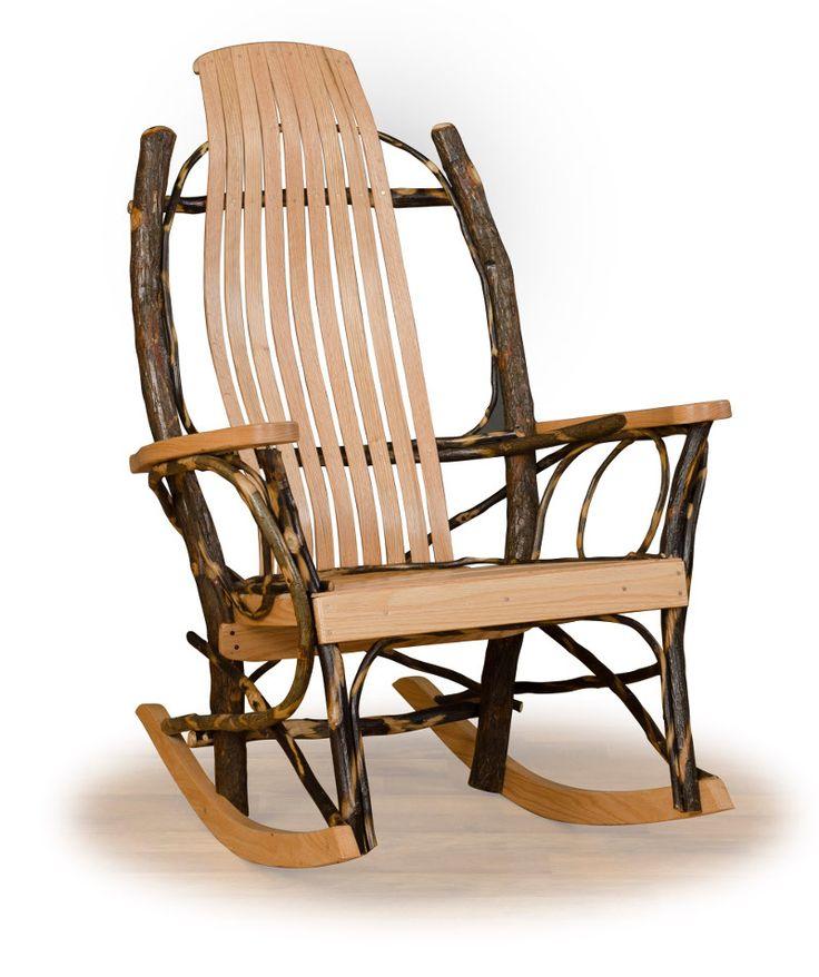 109 best Rustic Hickory  Oak Log Furniture images on