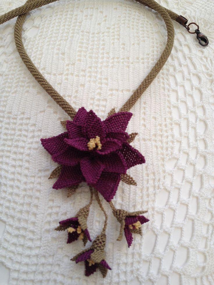 Oya, needle lace necklace
