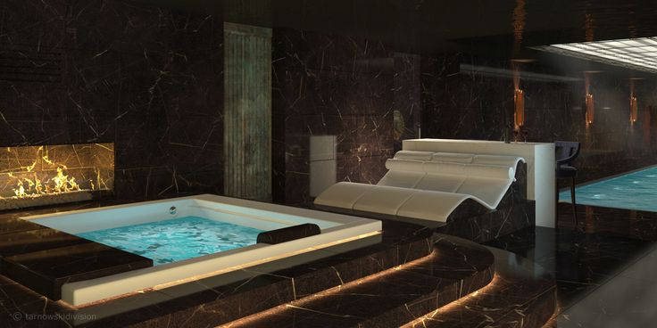 HOME SPA. INTERIOR. POOL AND JACUZZI. designed by tarnowskidivision