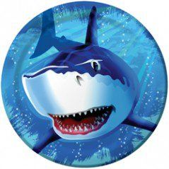 Shark Party Dinner Plates - 8.75in (8 Pack)