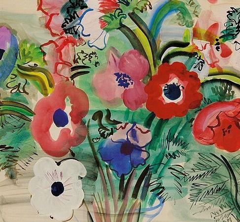 Raoul Dufy, anemones 1938