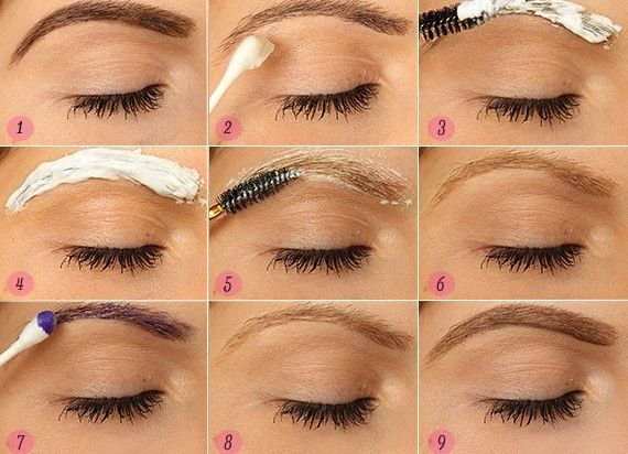 How to bleach your eyebrows.