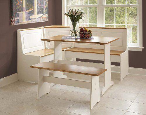 Ardmore Wood Corner Nook Set - Natural & White (Table, Bench & Corner Seat) FurnitureMaxx http://www.amazon.com/dp/B00H2318I6/ref=cm_sw_r_pi_dp_a4CAub0BFRHVH $395