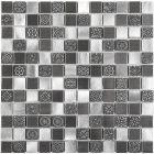 Mozaika Dunin Metallic Allumi Grey Mix 23 30x30 cm