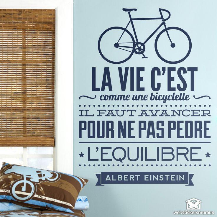 Stickers muraux La vie c est comme une bicyclette                                                                                                                                                      Plus