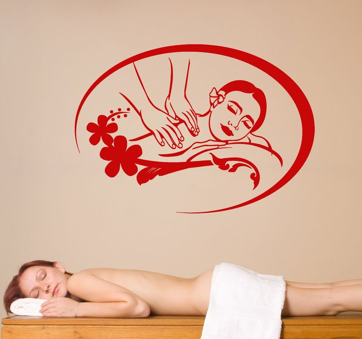 Vinyl Wall Decal Massage Spa Center Beauty Health Salon Stickers Unique Gift (2090ig)