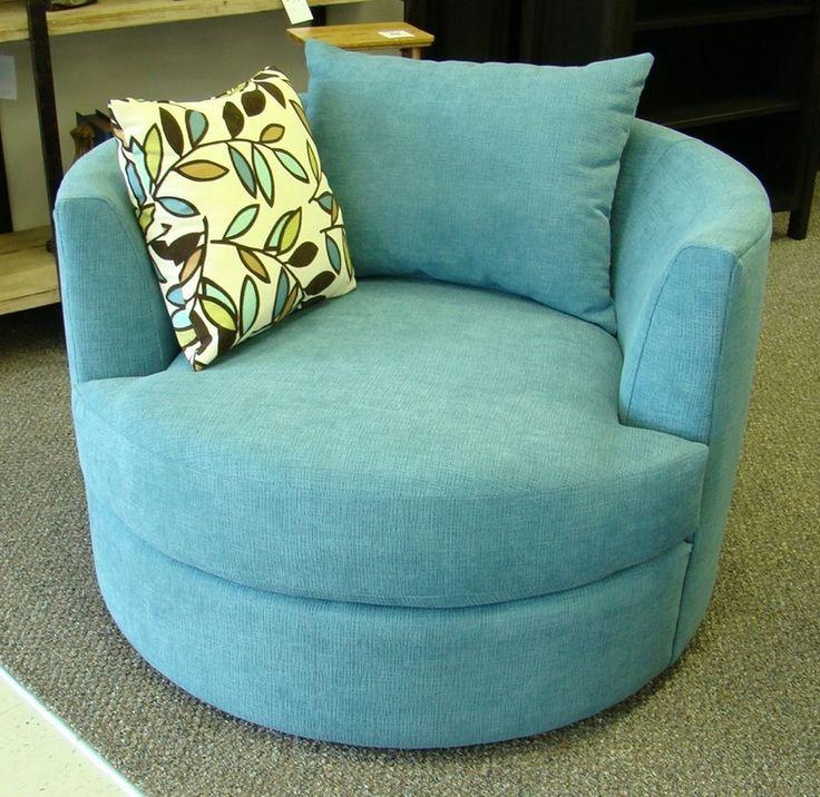 Round Cuddle Chair W Swivel Base