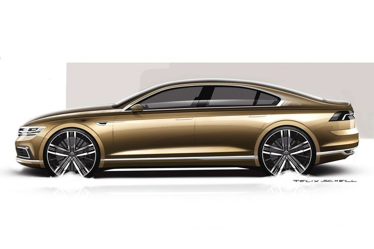 Volkswagen C Coupe GTE Concept Design Sketch Render