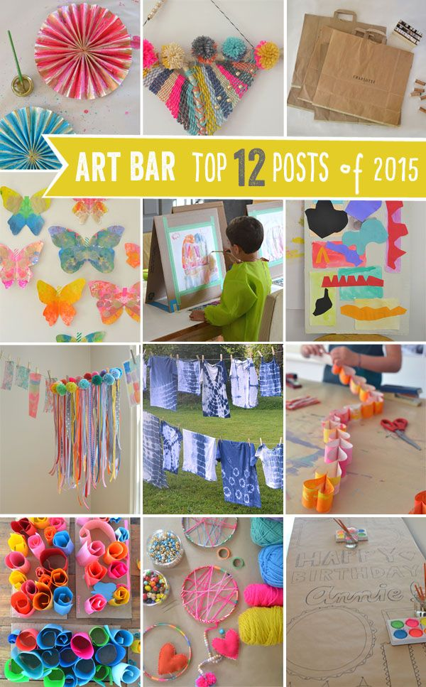 Art Bar posts of 2015, including lots of DIYs and art with children