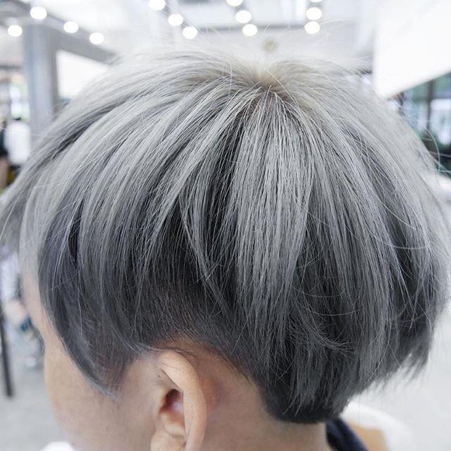 hair color - ash silver