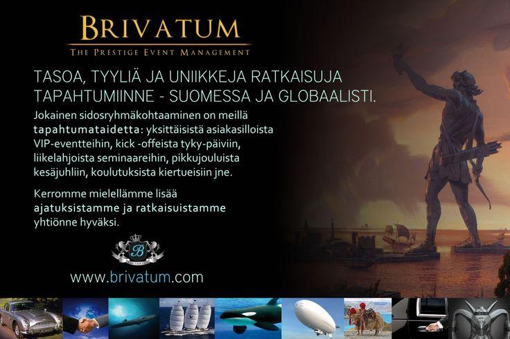 Tervetuloa tutustumaan palveluihimme - www.brivatum.com
